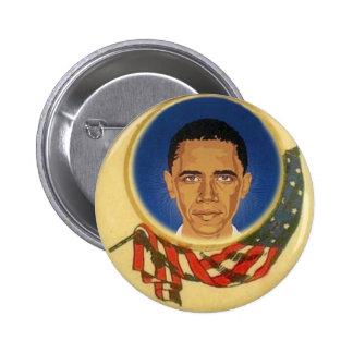 Obama Pop/Retro-Style Flag Button
