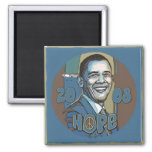 Obama Portrait 2008 Hope Magnet