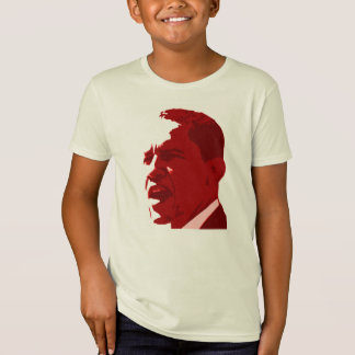 Obama Portrait in Red T-Shirt