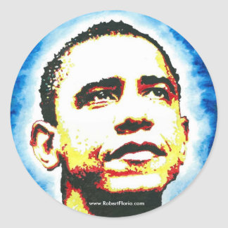 OBAMA Portrait Sticker BY ROBERT FLORIO Logo