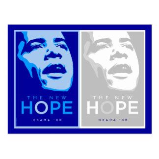 Obama - postal azul y blanca de la nueva esperanza