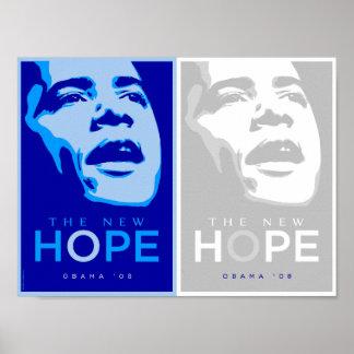 Obama - poster azul y blanco de la nueva esperanza