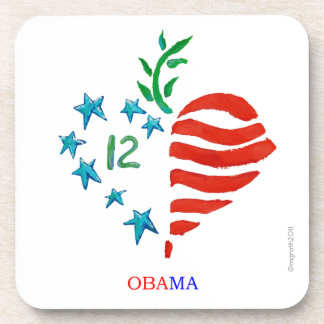 Obama poster coasters