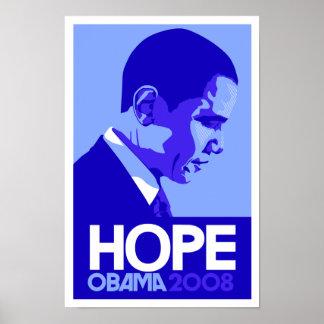 Obama - poster del azul de la esperanza