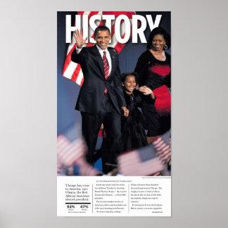 Obama: Poster del periódico de la historia