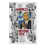 Obama: Poster histórico del voto de América