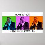 OBAMA POSTER,HOPE & CHANGE - Customized