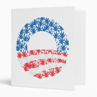 Obama Pot Leaf Symbol 3 Ring Binder