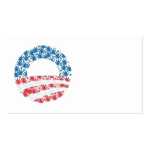 Obama Pot Leaf Symbol Double-Sided Standard Business Cards (Pack Of 100)