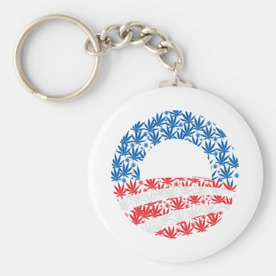 Obama Pot Leaf Symbol Keychain