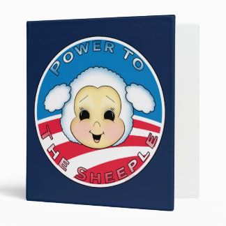 Obama: Power to the Sheeple 3 Ring Binder