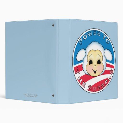 Obama: Power to the Sheeple Vinyl Binders