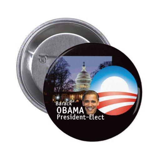Obama Pres elige el botón Pins