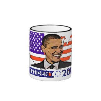 OBAMA PRESIDENT 2012 ELECTION RINGER COFFEE MUG