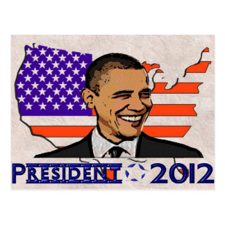 OBAMA PRESIDENT 2012 ELECTION POSTCARD