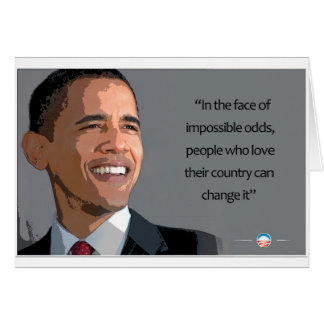 Obama President in the Face of Impossible Odds Card