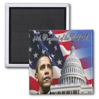 Obama, presidente 2009 imán cuadrado