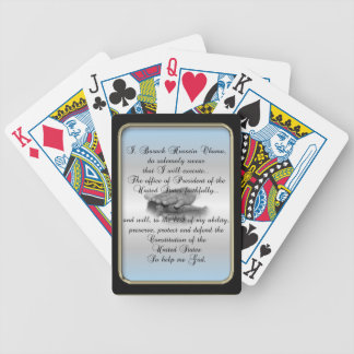 Obama Presidential Oath Black Frame Bicycle® Play Bicycle Playing Cards