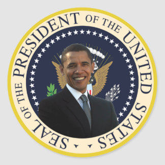 Obama Presidential Seal Classic Round Sticker