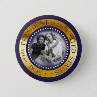 Obama Presidential Seal Portrait Button