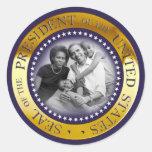 Obama Presidential Seal Portrait Classic Round Sticker