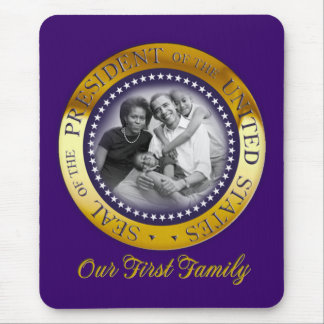 Obama Presidential Seal Portrait Mouse Pad