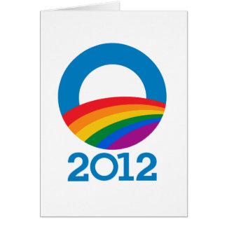 Obama Pride 2012 Greeting Card