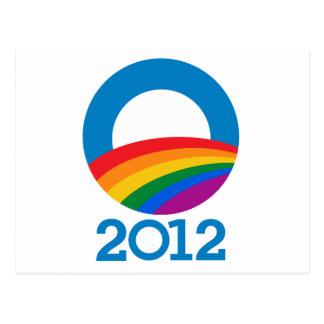 Obama Pride 2012 Postcard