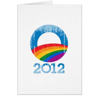 Obama Pride 2012 Vintage.png Greeting Card