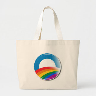 Obama Pride Button Jumbo Tote Bag