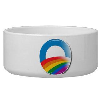 Obama Pride Button Dog Bowl