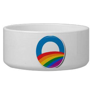 Obama Pride Button - Dog Water Bowl