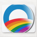 Obama Pride Button Mouse Pad