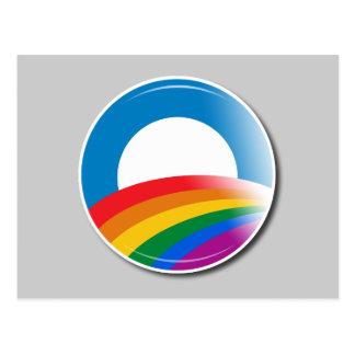 Obama Pride Button Postcard