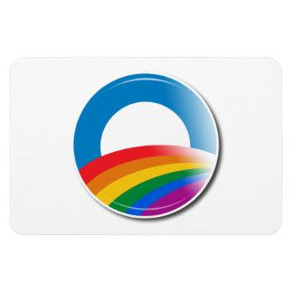 Obama Pride Button Rectangle Magnet