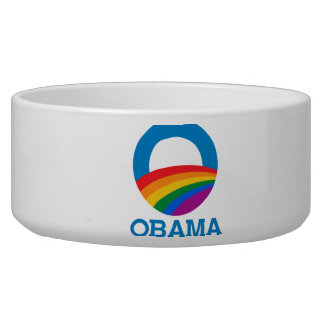 Obama Pride Dog Water Bowls