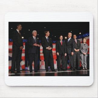 Obama-Primer discusión Alfombrilla De Ratón