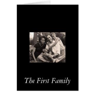 Obama-Primera familia Tarjeta De Felicitación