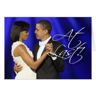 Obama primero baila - en el último tarjeta de felicitación