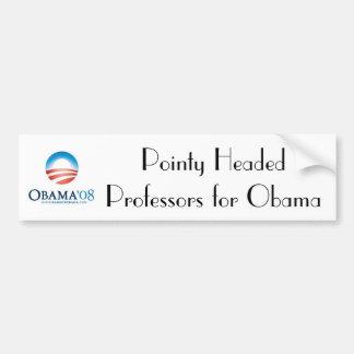obama, profesores dirigidos puntiagudos FO… - Modi Etiqueta De Parachoque