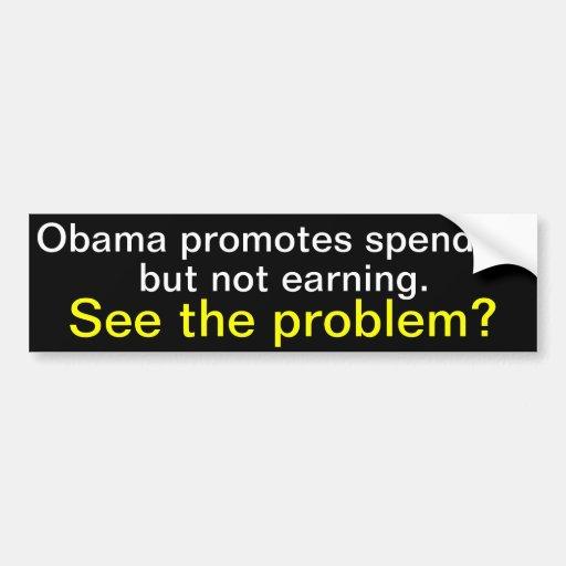 Obama promueve el pasar pero el no ganar etiqueta de parachoque