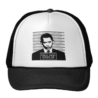 Obama - Public Enemy Number One Mesh Hats