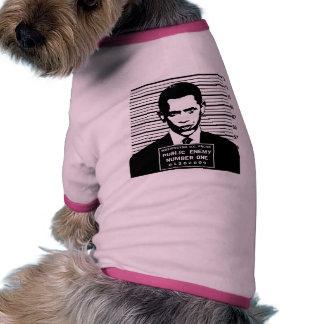 Obama - Public Enemy Number One Pet Shirt