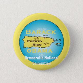 Obama Puerto Rico DNC Button