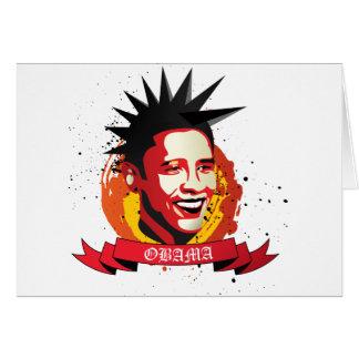 Obama Punker Card