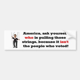 Obama Puppet Car Bumper Sticker