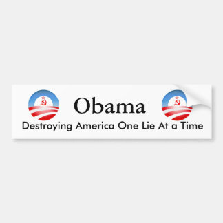 Obama que destruye América Pegatina Para Auto