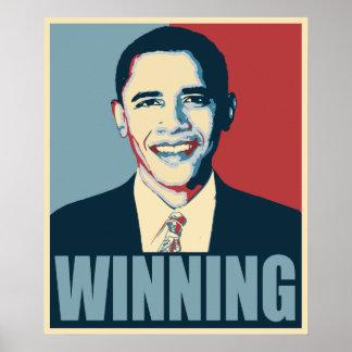 Obama QUE GANA 2012 Póster