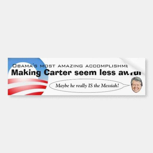 Obama que hace Carretero parece menos tremendo Pegatina De Parachoque