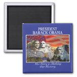 Obama que hace el imán del monte Rushmore de la hi